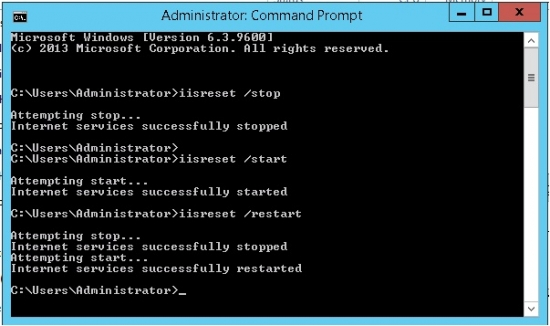 How to Start, Stop, Restart, Check Status IIS Service by Command Line